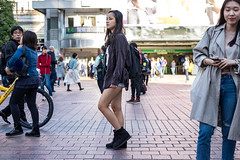 Barely (burnt dirt) Tags: asian japan tokyo shibuya station streetphotography documentary candid portrait fujifilm xt1 laugh smile cute sexy latina young girl woman japanese korean thai dress skirt shorts jeans jacket leather pants boots heels stilettos bra stockings tights yogapants leggings couple lovers friends longhair shorthair ponytail cellphone glasses sunglasses blonde brunette redhead tattoo model train bus busstation metro city town downtown sidewalk pretty beautiful selfie fashion pregnant sweater people person costume cosplay denim purple blue brown