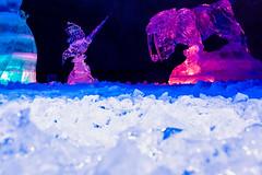 Ice cave feeling (VisitLakeland) Tags: ice cave sculpture vesileppis leppävirta finland veistos jääveistos