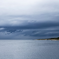 Dark clouds over sea (LukaBoban) Tags: sea water maritim sky clouds wind dark storm waves shore blue sevid croatia canon powershot g15