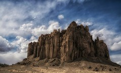 desert citadel... (Alvin Harp) Tags: citadel castlerock shiprock newmexico cloudsstormssunsetssunrises desert rockformations us491 navajonationland february 2018 sonyilce7rm3 fe2470mmf28gm natureswonder alvinharp