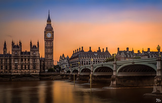 Big Ben & Westminster Bridge at Sunset