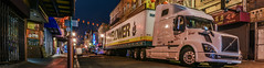 chinese new years parade 2018 clean up (pbo31) Tags: sanfrancisco california city urban nikon d810 color dark night february 2018 winter boury pbo31 panoramic large stitched panorama chinatown yearofthedog chinesenewyear cleanup parade truck moving mayflower breakdown yellow grantavenue