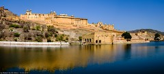 Jaipur / Āmer - Amer Fort (Robert GLOD (Bob)) Tags: architecture building castle construction fort fortification fortress lake landforms mountain mountains panorama stronghold unesco ind india jaipur amer rajasthan in