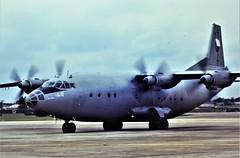 An-12BP 2105 c/n 4342105 Czechoslovak-Air-Force. Seen arriving for the International Air Tattoo at RAF Fairford. Wednesday, 17 July 1991. (Aircraft throughout the years) Tags: antonov an12 cub an12bp 2105 cn 4342105 czechoslovakairforce czechandslovak arriving internationalairtattoo iat raf fairford wednesday july 1991 scanned from dia