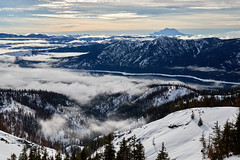 Winter in the Cascades (Photo_Flow) Tags: landscape landschaft usa winter 7dii cascades washingtonstate mountrainier snow schnee snowshoe hike outdoor inversion fog clouds view hexmountain cleelum