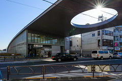 General view of Kaminoge Station (上野毛駅) (christinayan01 (busy)) Tags: tokyo station ando tadao architecture building perspective street