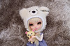 """Kori, look at the camera!"" (·Yuffie Kisaragi·) Tags: doll pullip miokit custom yuzuchan yuzuaesthetic kimmi revoltech korilakkuma obitsu rewigged rechipped"