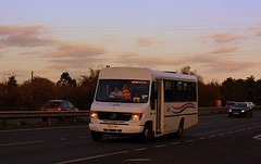 Fading Light (Chris Baines) Tags: suffolk norse mercedes yn55 kmx east bergholt 0814d plaxton beaver body