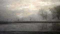 To collect the leaves of time .. (ByotA .... OFF) Tags: winter reflections freedom nostalgia homesickness fishermen waiting age trees frozen lake sky clouds canoneosrebelt1i 2018 texture kerstinfrank omar byota music song fairouz talalhaydar