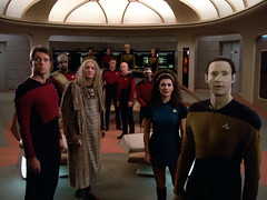 "Enterprise Crew on Ship's Bridge, Star Trek TNG, ""Encounter at Farpoint,"" 1987 (classic_film) Tags: startrek thenextgeneration 1987 1980s eighties television jonathanfrakes marinasirtis patrickstewart denisecrosby brentspiner michaeldorn johndelancie michaelbell actor actress sciencefiction scifi tv beauty beautiful prettygirl pretty mujerbonita niñabonita nostalgic nostalgia hübschesmädchen hübschefrau sexy sensuous vintage retro classic color entertainment america unitedstates celebrity woman outerspace hair hairstyle frau schauspielerin actriz mujer aktrice akteur aktor acteur actrice american usa añejo época clásico hollywood atriz schön lady jahrgang alt oll man tng"