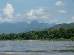 Boating on the Mekong River (Toats Master) Tags: laos mekongriver river boat longboat water landscape