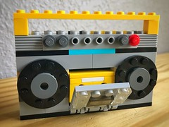 Boom (duvsem) Tags: cassette tape 80s boom boombox lego