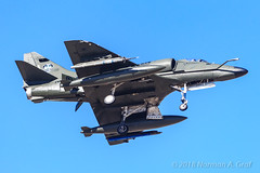 Douglas A-4K Skyhawk from Draken International (Norman Graf) Tags: ordnance nellisafb aircraft lsv p5ctstcts airplane a4k contractairsupport klsv a4 missile aircombatmaneuverinstrument militaryexercise drakeninternational military aim9 catm9 douglas aim redflag171 n146em a4d acmi airinterceptmissile attack captiveairtrainingmissile combattrainingsystem jet plane scooter sidewinder skyhawk tacticalcombattrainingsystem