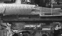 ~ The Past & Future ~ (Tan Andy (Sorry if I did not reply)) Tags: trainstation taichung taiwan dji mavic aerial aerialphotography mono blackwhite mavicpro godeyeview