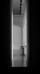 Voyeur (chantsign) Tags: blackandwhite monocrome hallway can silver walls tonality rectangle floor ceiling