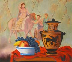 Still life with  a fresco (Renoil L.) Tags: naturamorta painting oilpainting frutta mytology zeus europa pittura affresco stilllife