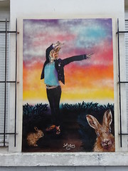 Adey (Archi & Philou) Tags: streetart paris20 murpeint paintedwall adey adelineyvetot lapin rabbit pochoir stencil