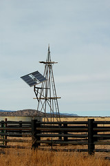 Tech Update (rdodson76) Tags: climatechange trumpisanidiot technology solar solarpanel energy updated landscape grasslands cattle wateringtank modern retrofit savetheworld fence barrier newmexico mountains foothills plains waterpump agriculture farming equipment windmill science weather modernization