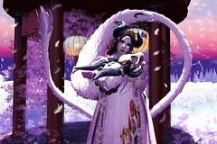 Quiet Sunrise (LiangScorpio) Tags: sl secondlife aii kimono dragon horns catwa kurenai