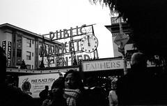 Pike Place Market (Rick Brandt) Tags: olympusxa washington trix olympusxa2 d76 seattle blackandwhite film pikeplacemarket unitedstates us
