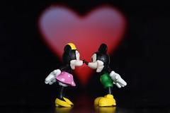 My Heart Will Go On (tanyalinskey) Tags: 7dwf crazytuesdaytheme heart myheartwillgoon flickrfriday mickeymouse minniemouse macro animal toy