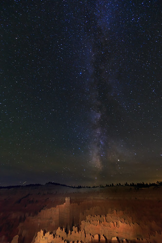 The milky way over Bryce Canyon