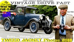 Vintage Tweed Drive past part 3 (The General Was Here !!!) Tags: car cars vintage auto autos vehicles vehicle old nz kiwi newzealand tweed jacket cap harris houndstooth man gents canon fairlie 2018 outdoor street road parade rally show drive driving past classic club retro school fashion mens plaid blazer text words poster oldman transport wheels headlight opa grandad photo newyearsdayparade2018