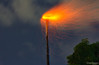Chimney burning (Werner Wanderley) Tags: chimney burning fire night orange flame spark