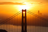 Golden Alignment (Omnitrigger) Tags: bridge goldengatebridge goldengate sanfrancisco bayarea sf landscpe sunburst sunrise omnitrigger marinheadland zoomlens hawkhill goodmorning