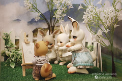Jinju family & Gribouille (Nathy1317) Tags: cocoriang peppi tobi cheeriya bjd doll pet animal decor lapin écureuil ウサギ 栗鼠