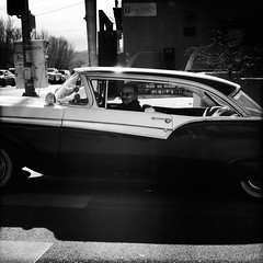 """Ford, Taos, NM (woody lauland) Tags: grayscale monochrome """"blackandwhite"""" oggl """"streetphotography"""" driver car automobile ford """"taosnm"""" nm """"newmexico"""" taos"""