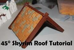 New Tutorial! (soccersnyderi) Tags: lego moc roof technique walkthrough guide explanation skyrim 45° gable