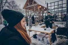 The sight of food! (]vincent[) Tags: kristinehamn sweden sverige white snow trip xmas christmas market people us portrait self you beautiful girl ginger santa claus red river pretty varmeland värmeland sony rx 100 mk iv vincent