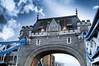 Tower Bridge on a cloudy day (The Phoenix Girl) Tags: towerbridge perspective clouds london uk composition england greatbritain unitedkingdom photography city cityscape londonbridgecity londoner londonist europe artist towerhill