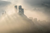 Old Ruins (Stu Meech) Tags: corfe castle dorset sunrise fog mist nikon d750 70200