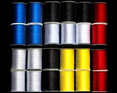 Thread (tonyajbender) Tags: thread sewing abstract art mondriaan contrast primary pattern photochallengorg photochallenge2018 trevorcarpenterphotochallenge