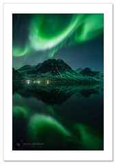 Not a bad night :) (Horia Bogdan) Tags: aurora auroraborealis northernlights reflection fjord mountain norway grotfjord tromso horiabogdan