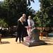 PM  Netanyahu and his wife Sara visit Mahatma Gandhi's house, accompanied by India's PM Modi