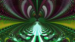 JLF0547 Green Boulevard (jlfractal) Tags: sterling fractal fractalart green tunnel julofi garden