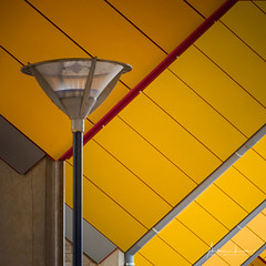 Yellow Submarine IV (Alec Lux) Tags: pietblom rotterdam architecture building city cube cubism design detail details fragment fragments geometric geometry hexagon holland house houses kaleidoscope kubuswoningen netherlands structure urban water