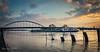 Aan de IJsselkade (Hans van Bockel) Tags: deventer overijssel nederland nl nikon pano panorama 1680mm lightroom photoshop ijssel rivier water waterstand hoog kunst wilhelminabrug sky lucht brug schip boot