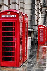 Birmingham Phone Boxes (seantindale) Tags: birmingham uk phonebox colourful travel rain