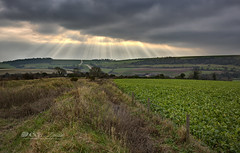 A brief moment (Through Bri`s Lens) Tags: sussex steyning farm fence farmer clouds sunrays hdr brianspicer canon5dmk3 canon1635f4