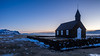 Black Church at sunrise (katrin glaesmann) Tags: búðahraunlavafield iceland snæfellsnes unterwegsmiticelandtours photographyholidaywithicelandtours mountains lava clouds búðakirkja blackchurch sunrise
