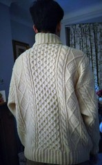 Husband in heavy turtleneck sweater (Mytwist) Tags: aran cable knit polo neck jumper throughthelookingglass88 timeless turtleneck designed style fetish fashion bulky modern fisherman