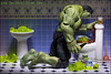 HULK SMASH(ed) (Pikebubbles) Tags: davidgilliver davidgilliverphotography toyphotographer toyphotography toyartistry hulk incrediblehulk marvel marvellegends marvelcomics toys toy toyart arttoys figurine figurines actionfigure funny joke toilet hulksmash creative creativephotography canon macro