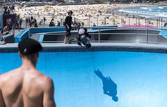 skaters (Greg Rohan) Tags: 2017 water helmet sand blue skateboard skateboarding streetlife people beach bondibeach bondi sydney skater skaters d750 nikkor nikon