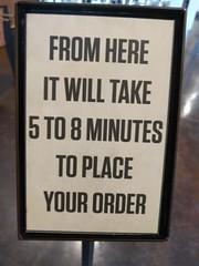 Restaurant Line Time (earthdog) Tags: 2018 word text sign restaurant lgenexus5x lge nexus 5x androidapp moblog cameraphone superduperburger