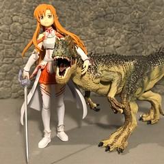 Curtain Call (Sasha's Lab) Tags: asuna sword art online rapier dungeon dinosaur figma action figure jfigure gsc toy virtual reality game teen girl avatar hug