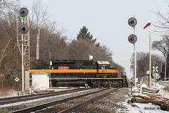 CSS 805 @ Stillwell, IN (Michael Polk) Tags: chicago south shore bend railroad emd sd382 805 freight train stillwell indiana grand trunk western gtw nkp nickel plate imc